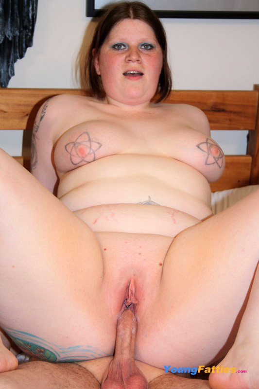 nasty young chubby plays with big cock