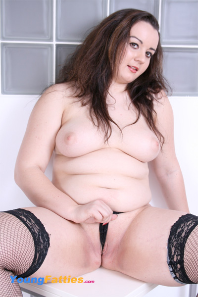 chubby in black stockings