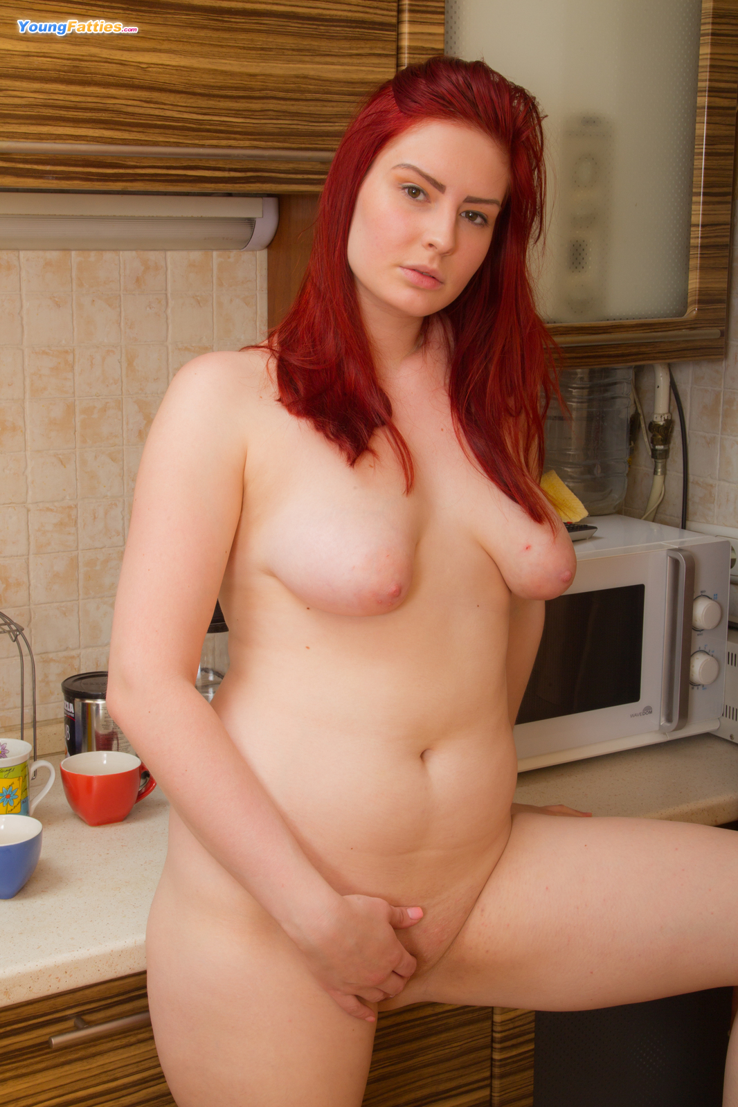 Cute chubby redhead from young fatties