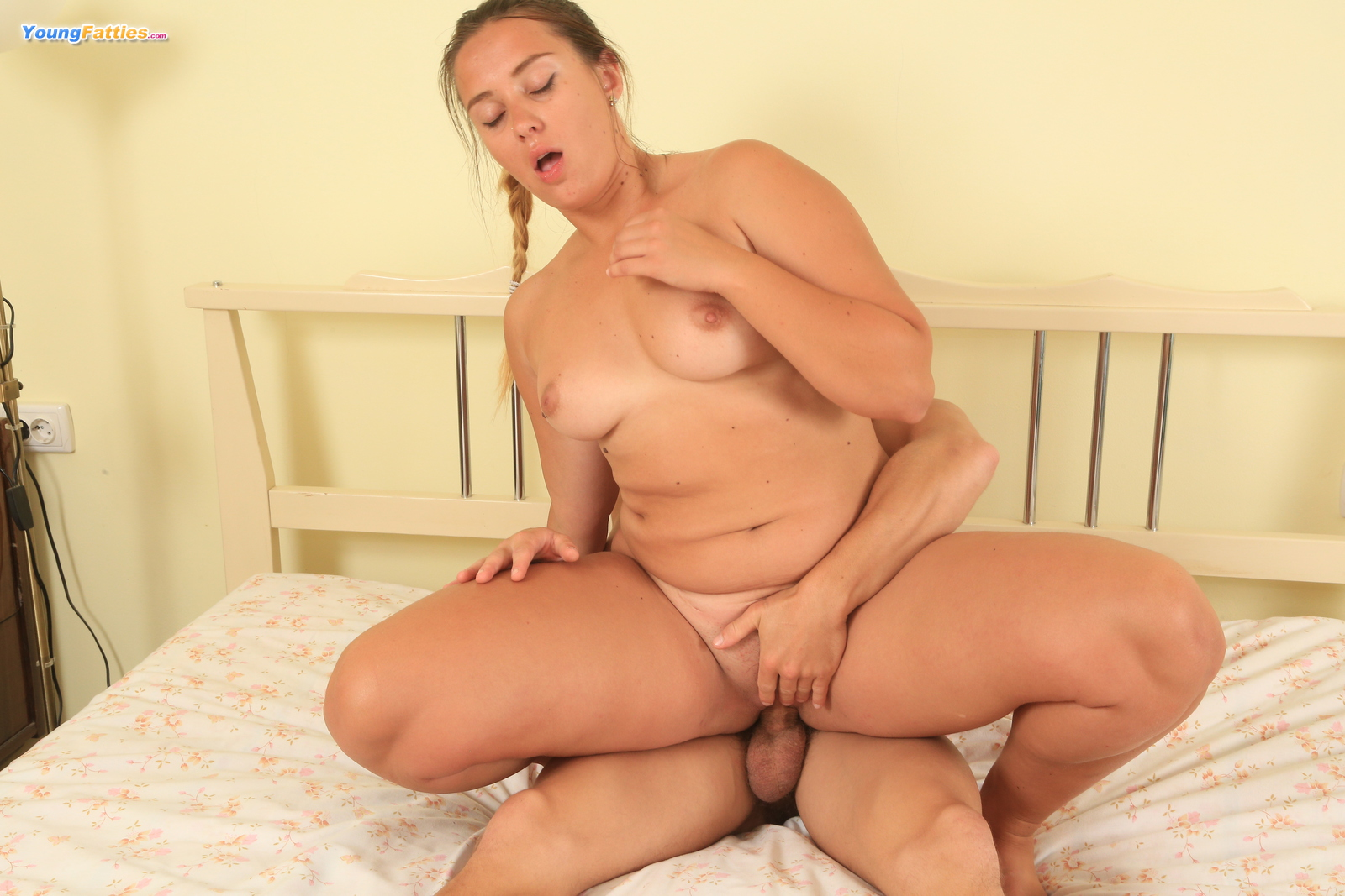 Young chubby plays and teases